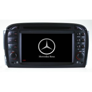 "ШГУ Benz SL R230: (2001-2007) 8""TFT Display RGB 800*480 Wince 6.0 GPS/DVD/Radio/BT/Game/USB/PIP/Canbus and Steering wheel control/Original Amp and MFD support"