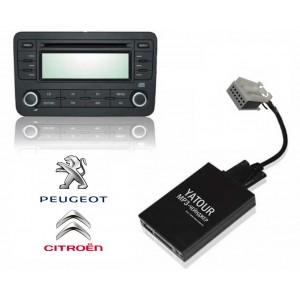 Авто MP3 проигрыватель Yatour-Russia для автомобилей Peugeot / Citroen (ISO-12)